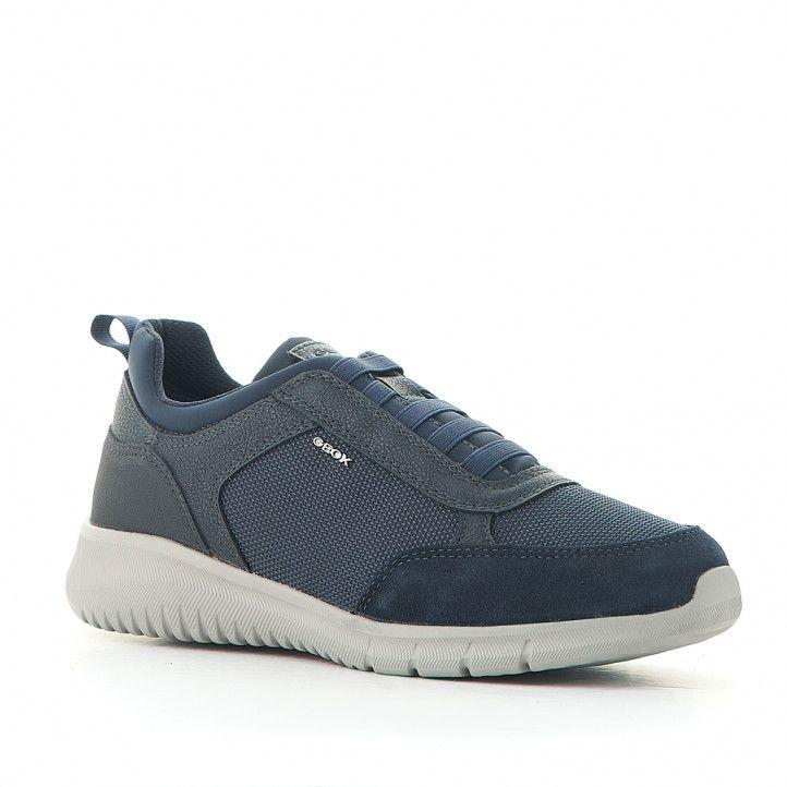 Zapatos sport Geox de piel con elásticos - Querol online