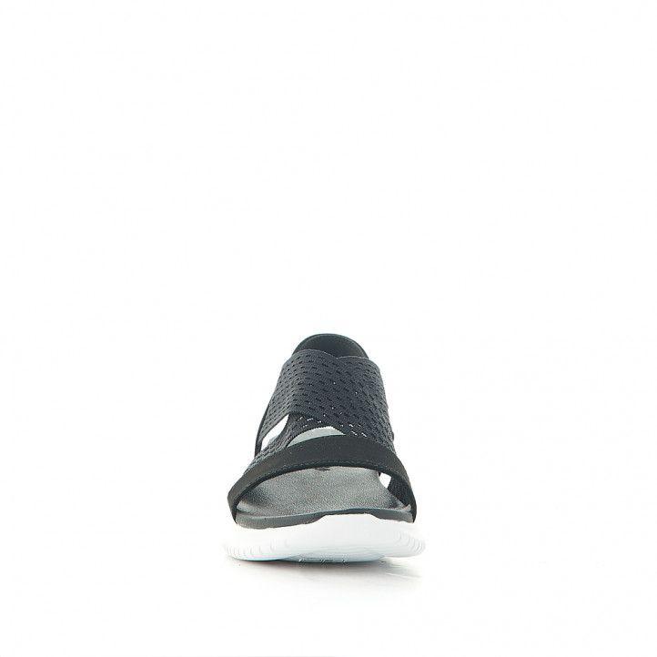 Sandalias cuña Skechers ultra flex neon star black - Querol online