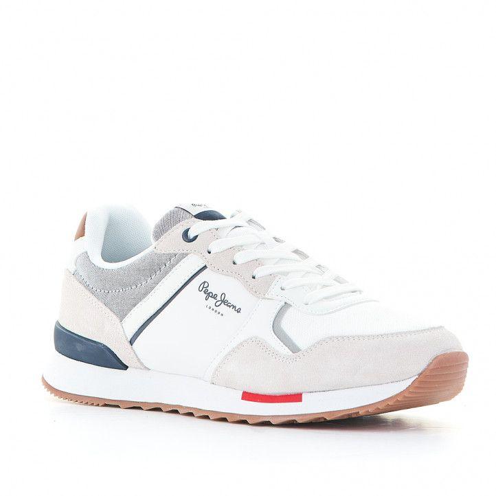 Zapatillas deportivas Pepe Jeans cross 4 tech white - Querol online