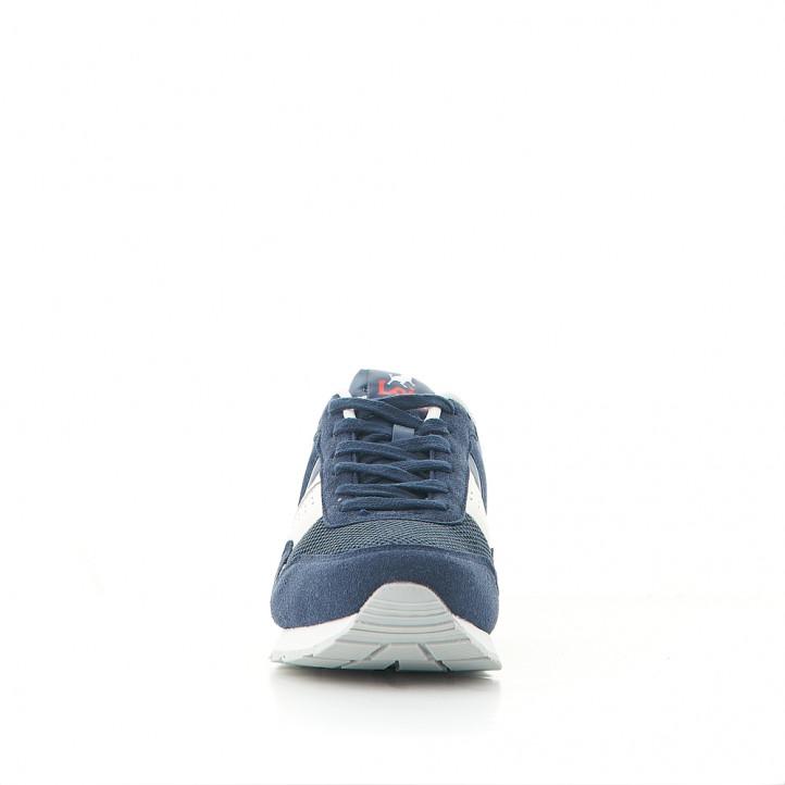 Zapatos sport Lois azules combinadas con detalles blancos - Querol online