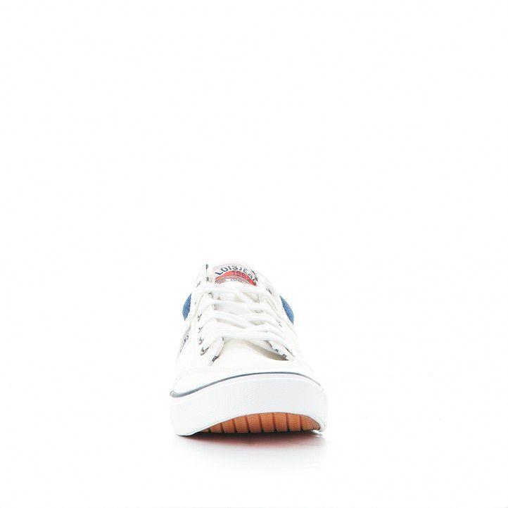Zapatillas lona Lois blancas con partes tejanas - Querol online
