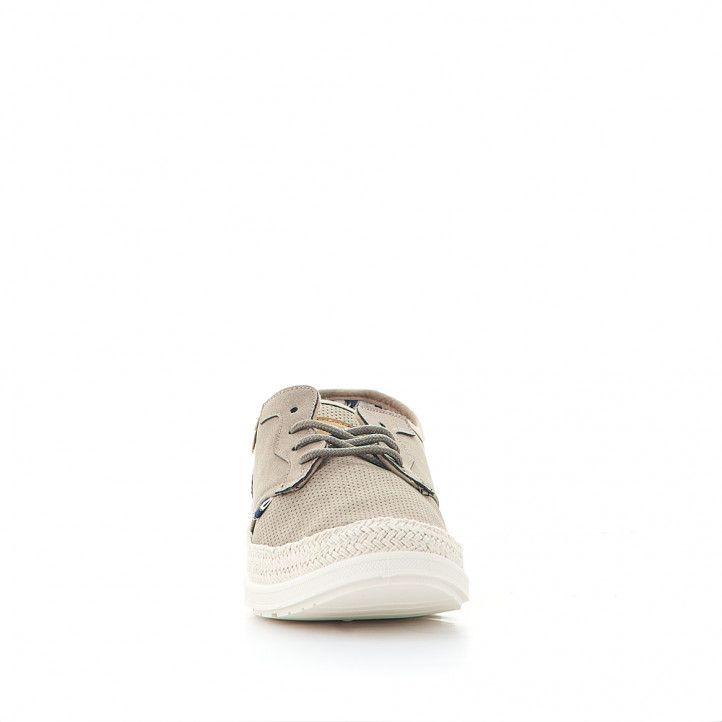Zapatillas lona Lois marrones tipos alpargata - Querol online