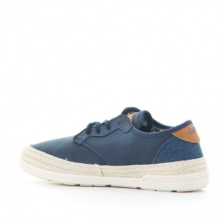 Zapatillas lona Lois azules tipos alpargata - Querol online