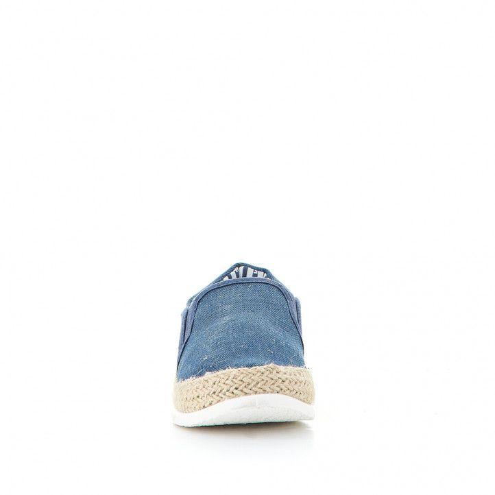 Zapatillas lona Lois azules militar estilo alpargata militar - Querol online