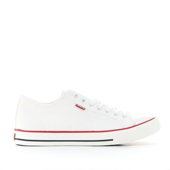 Zapatillas lona Levi's hernandez blanca - Querol online