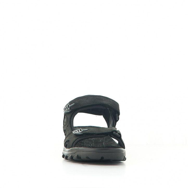 Sandalias Vicmart sport negras con varios cierres - Querol online