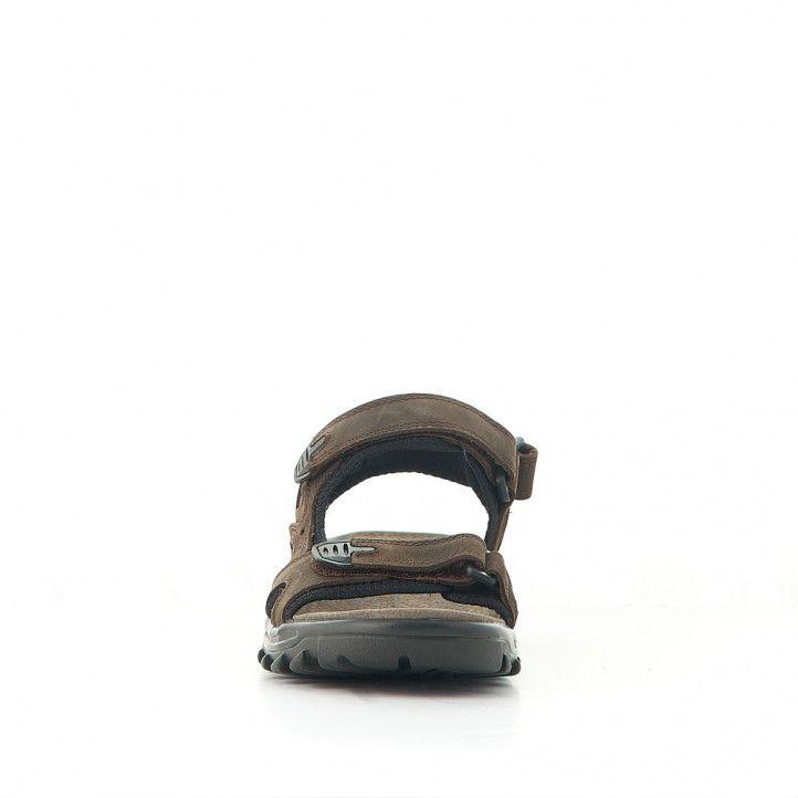 Sandàlies Vicmart marrons negres amb diversos tancaments - Querol online