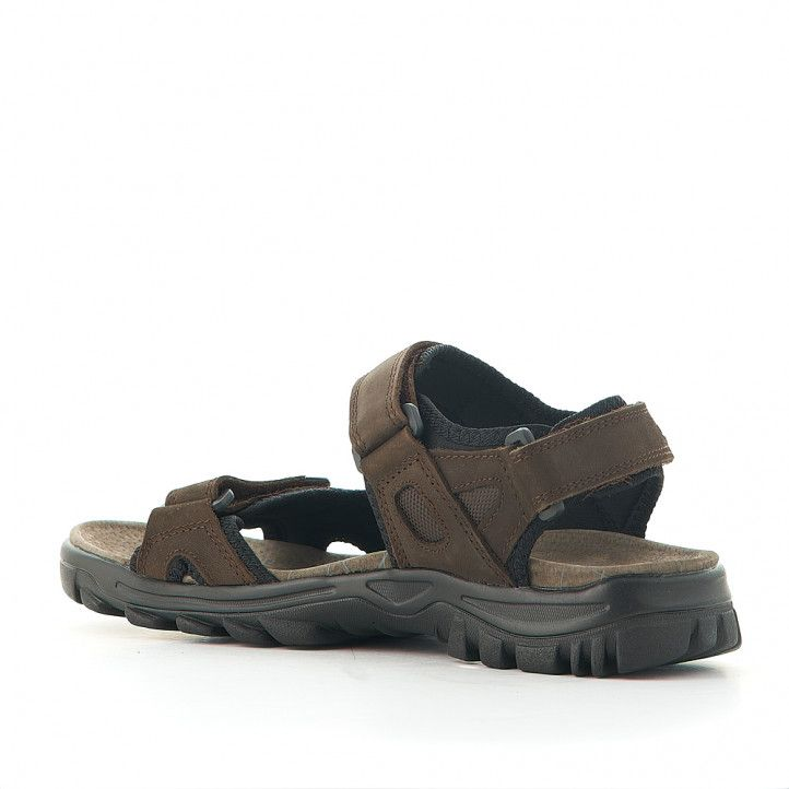 Sandalias Vicmart marrones negras con varios cierres - Querol online