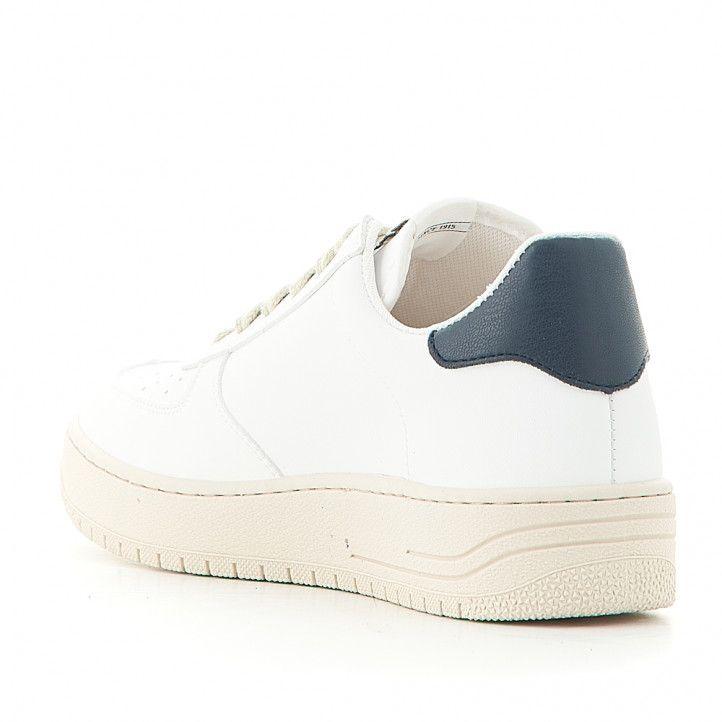 Zapatillas deportivas Victoria blancas con logo en gris - Querol online