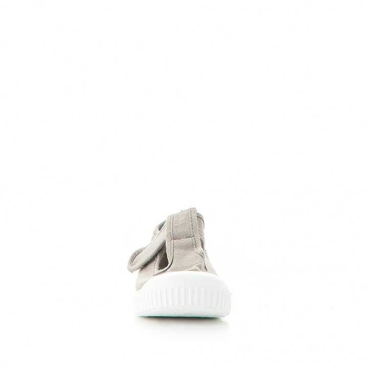 sabatilles lona Victoria grises amb velcro superior - Querol online