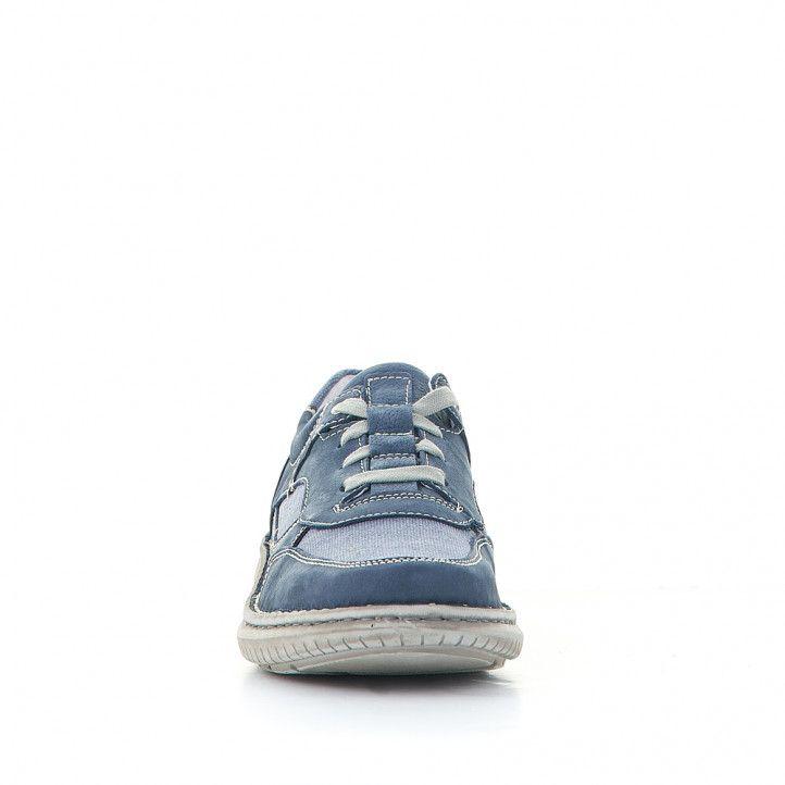 Zapatos sport Zen azules con partes de tela - Querol online