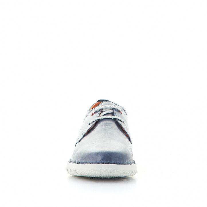 Sabates sport Zen blaves amb detalls vermells i sola blanca - Querol online