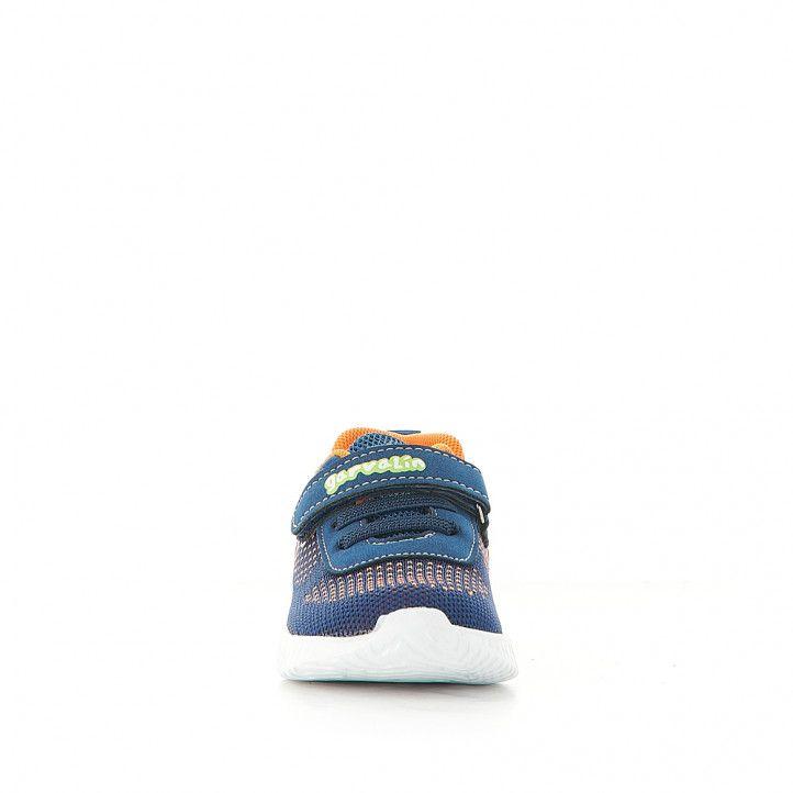 Zapatillas deporte GARVALIN con muchos detalles naranjas - Querol online