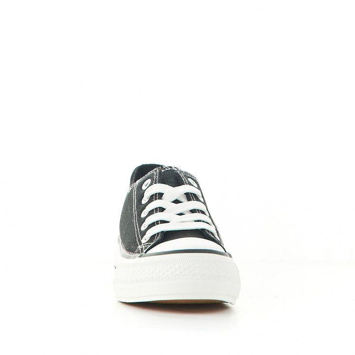 Zapatillas lona Owel kids con cordones, plataforma y puntera reforzada - Querol online