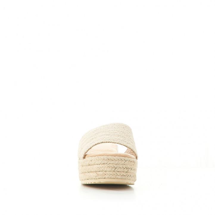 Sandalias plataformas Owel porquerolles de rafia y pala grande - Querol online