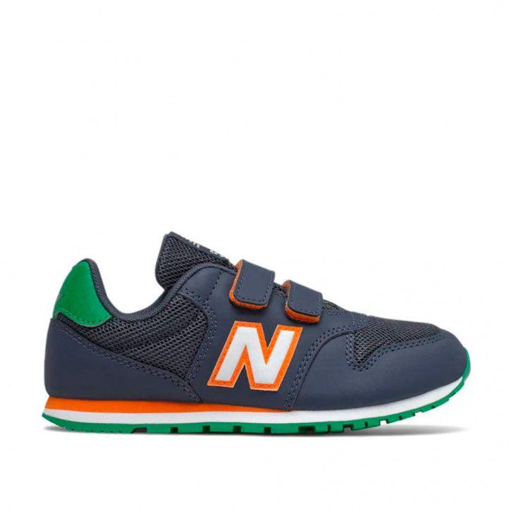 Zapatillas deporte New Balance 500 azul naranja y verde - Querol online