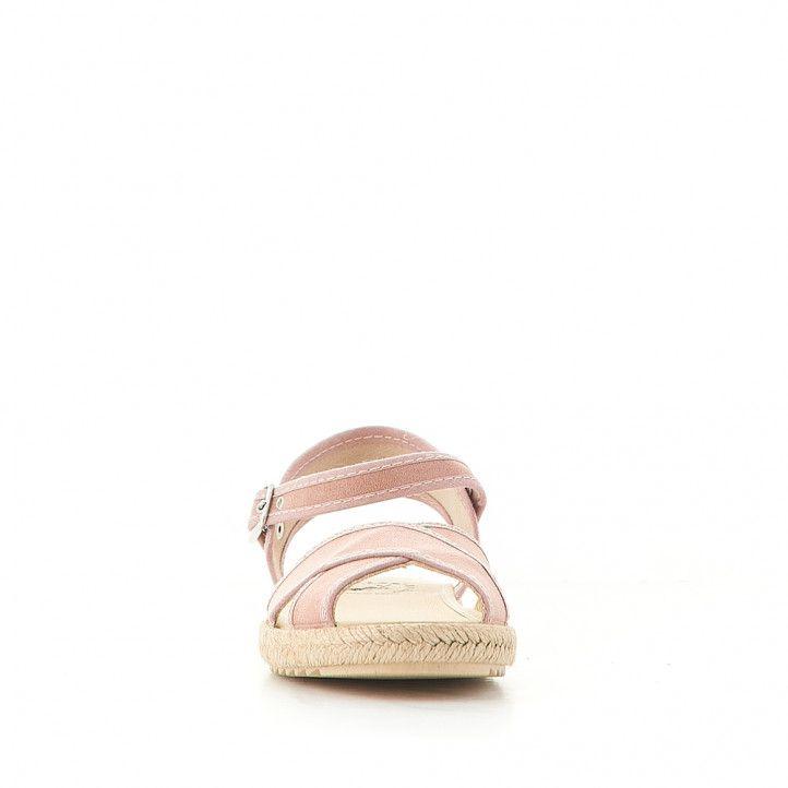 sandalias Vulladi cruzada rosa - Querol online