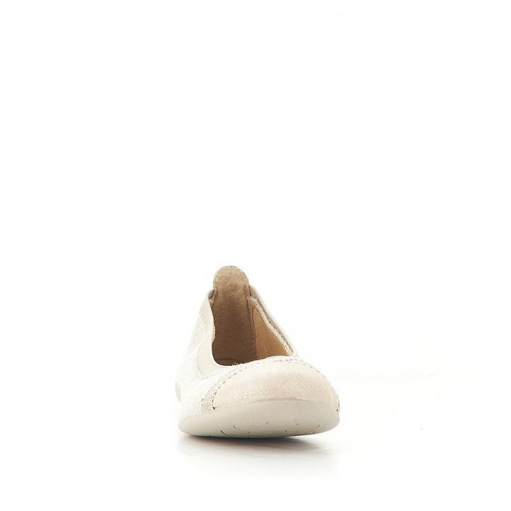 Bailarinas Vulladi color crema de tela - Querol online