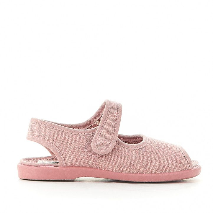 Zapatillas casa Vulladi rosas con dedos descubiertos - Querol online