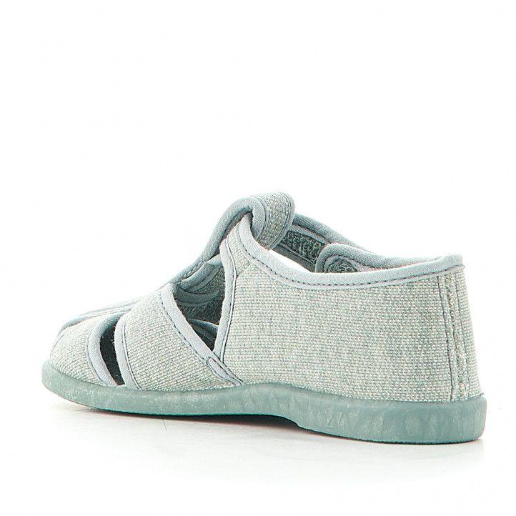 Zapatillas casa Vulladi verde azuladas cerradas - Querol online