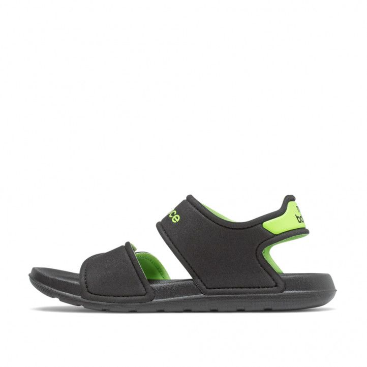 chanclas New Balance black con lime glo - Querol online