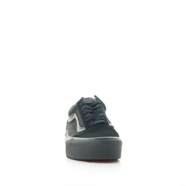 Zapatillas lona Vans old skool platform black - Querol online