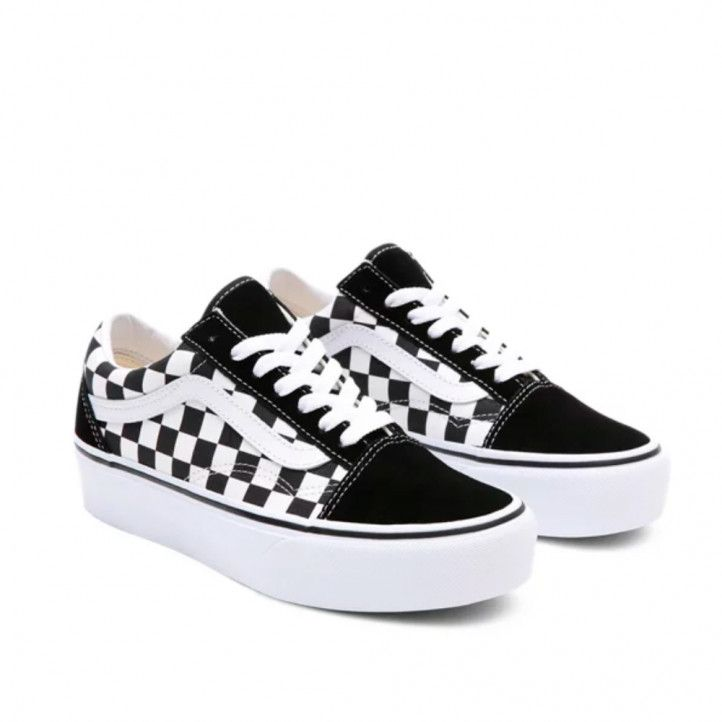 Zapatillas lona Vans old skool platform checkerboard - Querol online