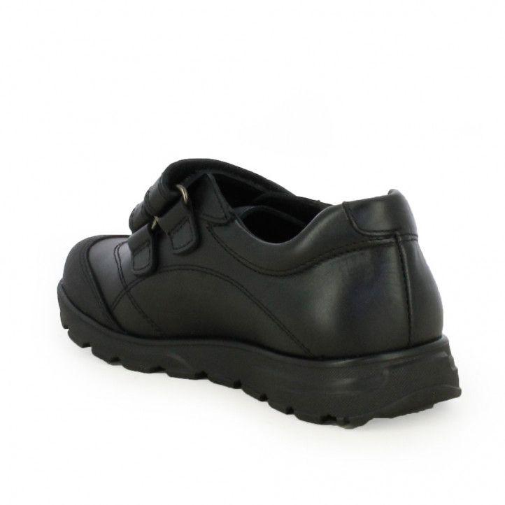 Zapatos Pablosky de piel negros con doble velcro - Querol online