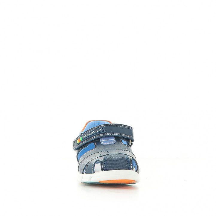 sandalias Pablosky cerradas azules y naranjas - Querol online