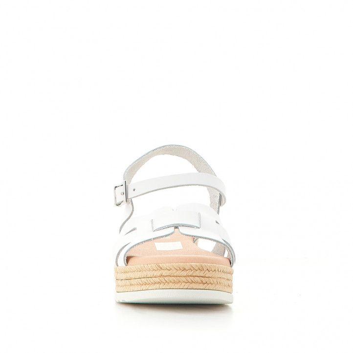 sandalias QUETS! con tiras blancas y plataforma - Querol online