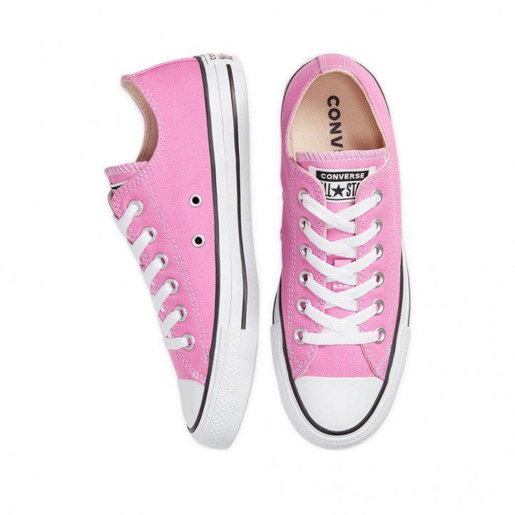 Zapatillas lona Converse rosa chuck taylor all star bajas - Querol online