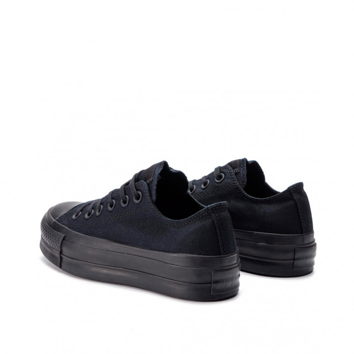 Zapatillas lona Converse all star negras con plataforma - Querol online