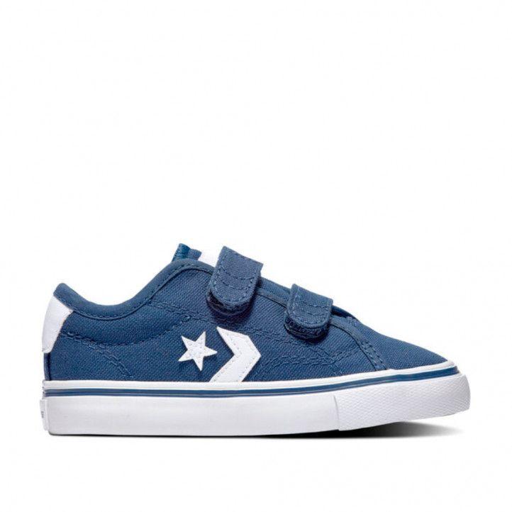 Zapatillas lona Converse azules con dos tiras - Querol online