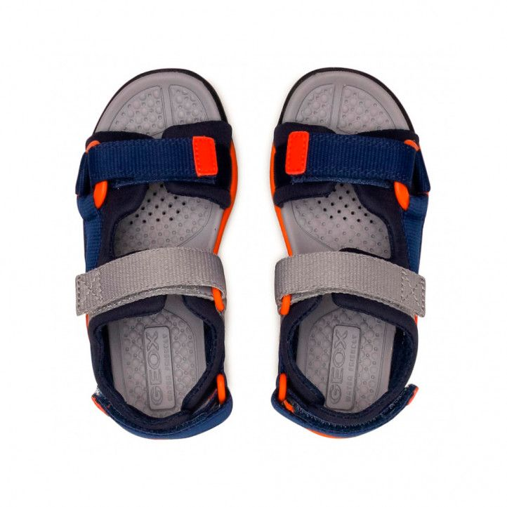 sandalias Geox azules, grises y naranjas - Querol online