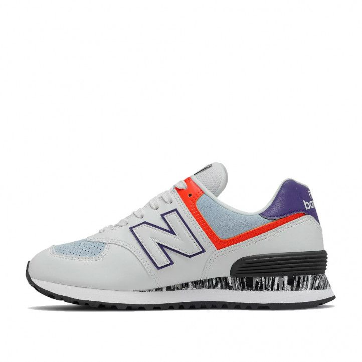 Zapatillas deportivas New Balance 574 white con ghost pepper - Querol online