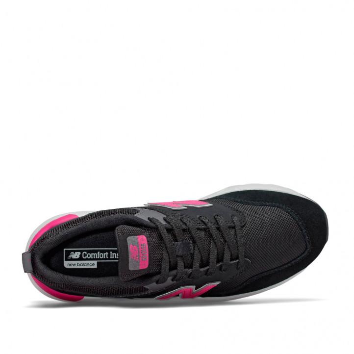 Zapatillas deportivas New Balance 009 negras con fucsia - Querol online