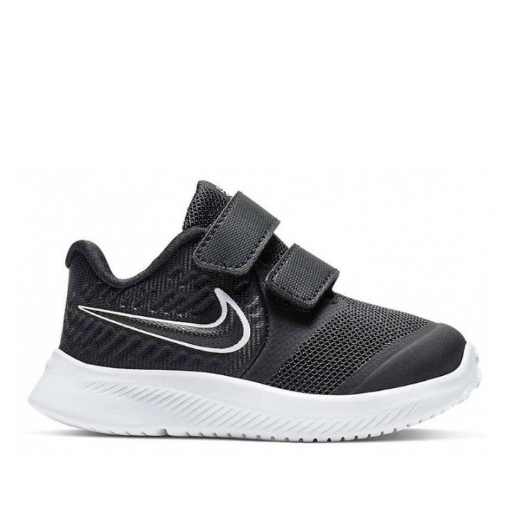 Zapatillas deporte Nike negras con detalles blancos star runner - Querol online