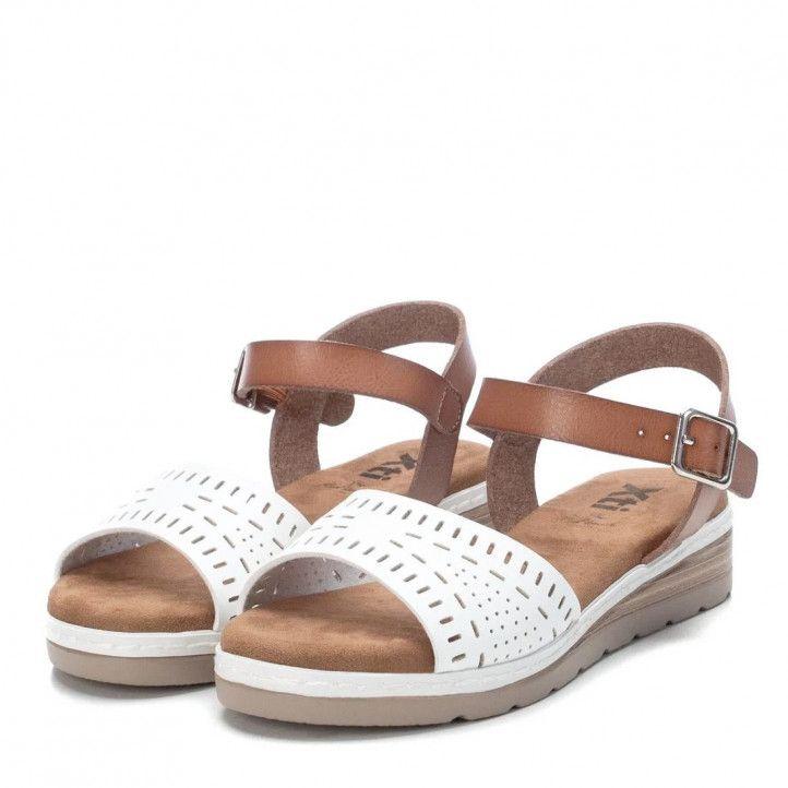 sandalias Xti con pala blanca troquelada - Querol online