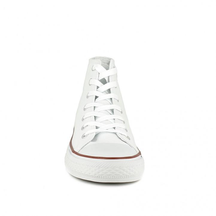 Sabatilles lona OWEL botes blanques amb cordons - Querol online