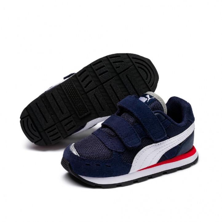 Zapatillas deporte Puma vista v azules, blancas y rojas - Querol online
