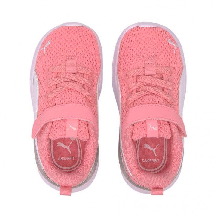Zapatillas deporte Puma rosas anzarun lite con velcro y elásticos - Querol online