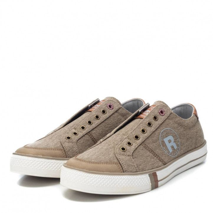 Zapatos sport Refresh sin cordones beige - Querol online