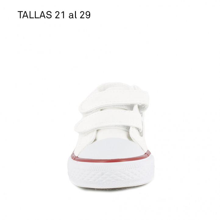 Zapatillas lona QUETS! blancas - Querol online