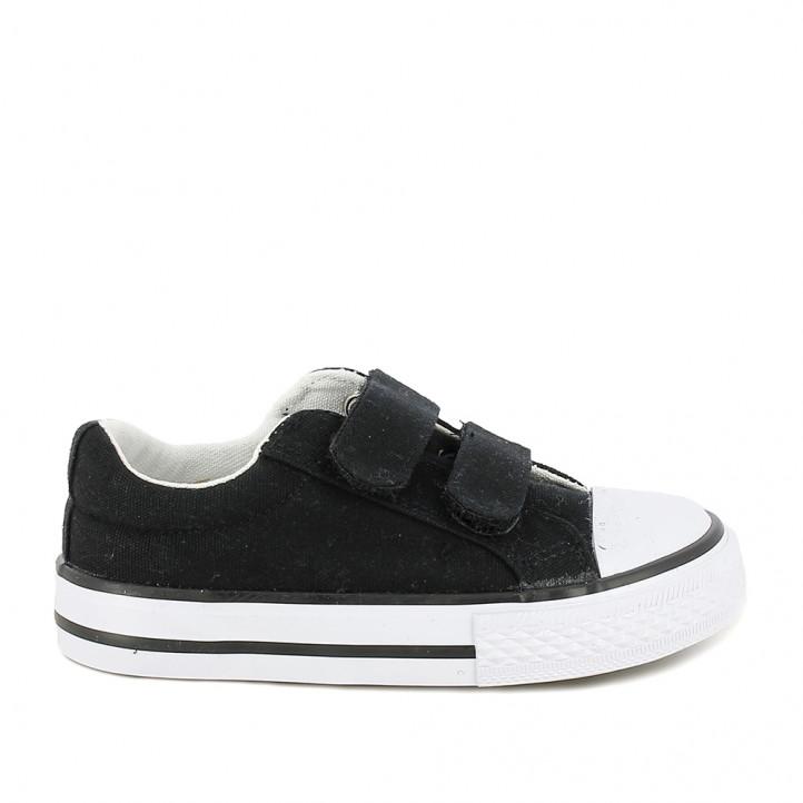 Zapatillas lona QUETS! negras con suela blanca - Querol online
