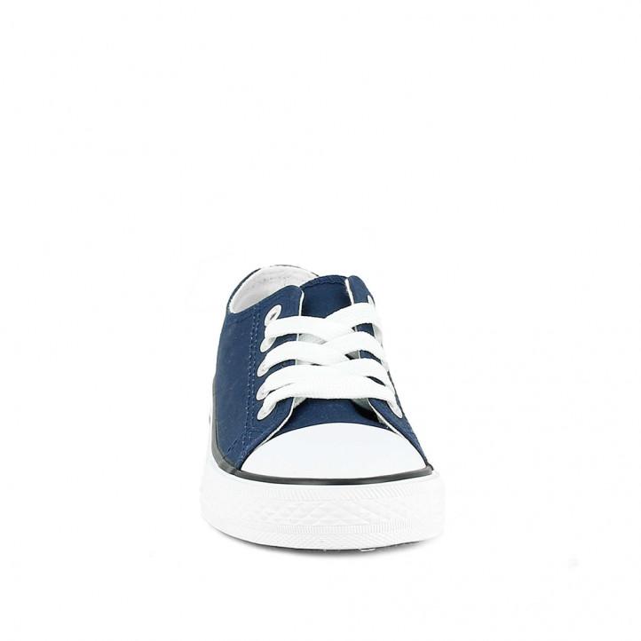 Zapatillas lona QUETS! azul marino con suela blanca - Querol online