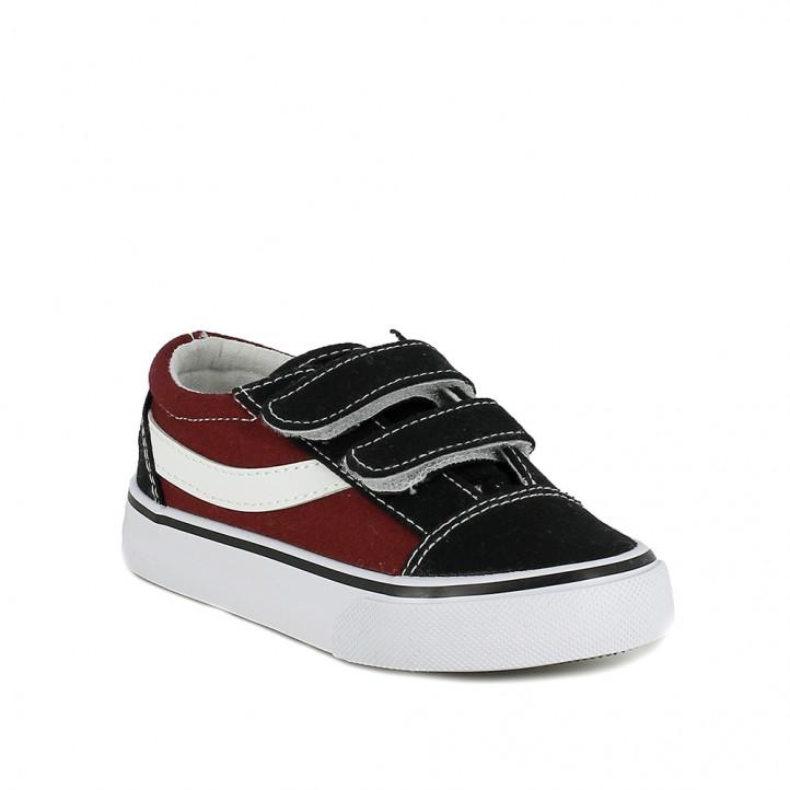 sabatilles lona QUETS! vermelles bordeus i negres amb velcros - Querol online