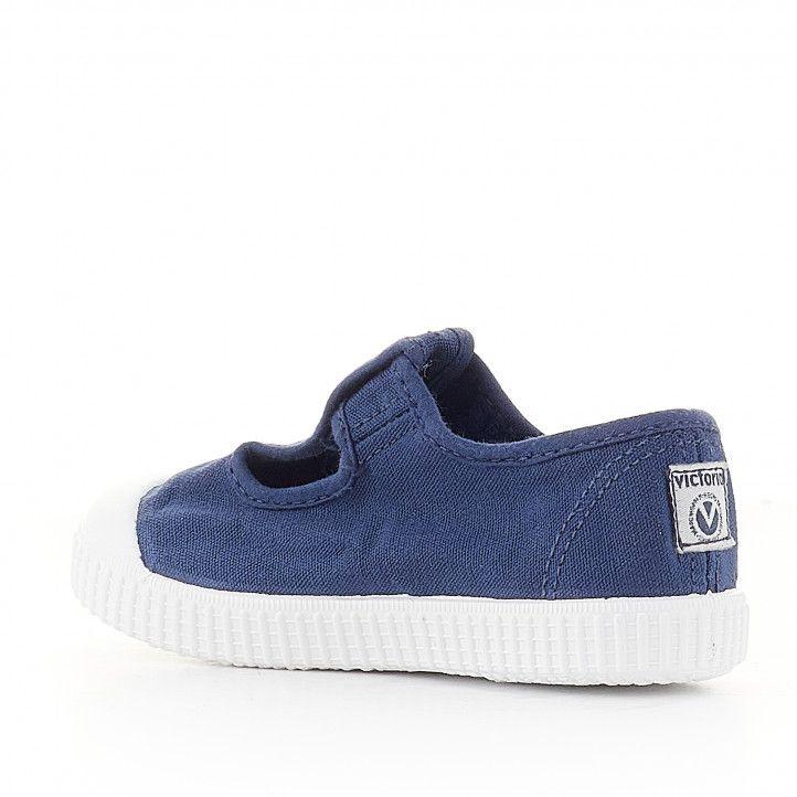 sabatilles lona Victoria lones blaves amb velcro superior - Querol online