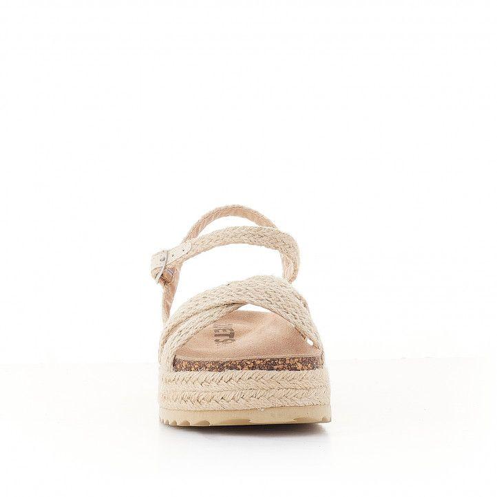 sandàlies QUETS! amb diverses tires de corda i plataforma - Querol online