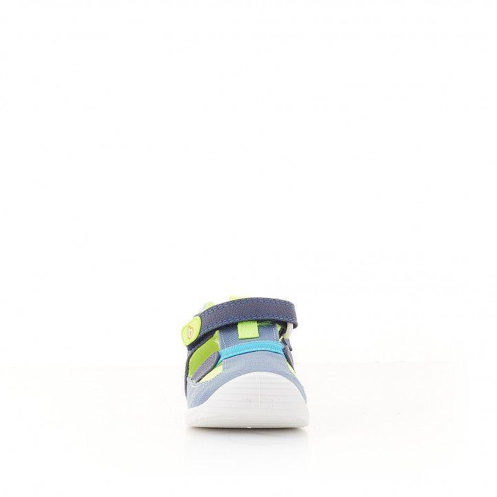 Sandàlies abotinades Biomecanics blaves i festuc - Querol online