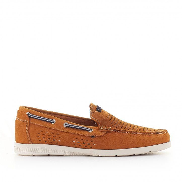 Zapatos sport Lobo catania de piel marrón perforada - Querol online